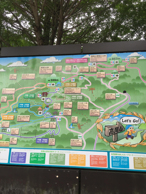 東京八王子高尾山登山地図トレイルランニング