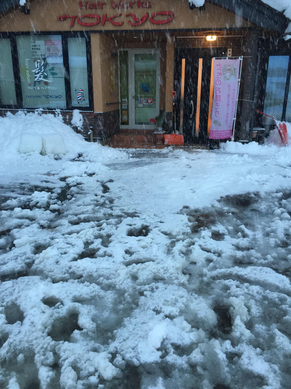 三条市ヘアーワークス トーキョー大雪で大変です!